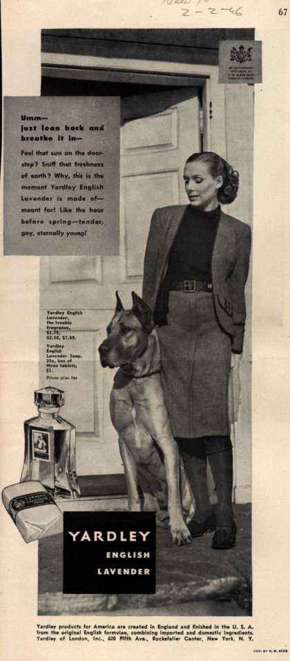Yardley of London's English Lavender Cosmetics – Umm just lean back and breathe it in (1946)