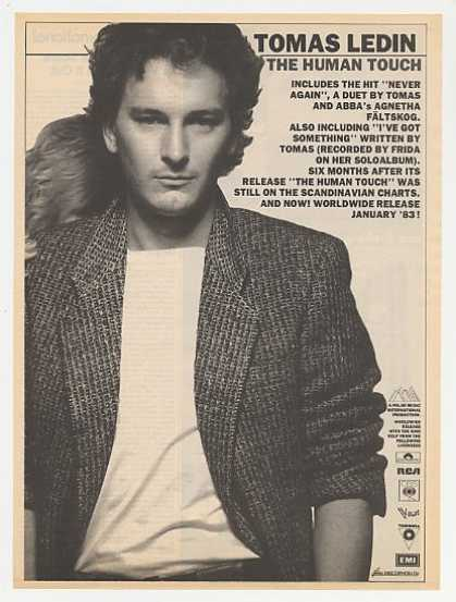 Tomas Ledin The Human Touch Album Promo Photo (1983)