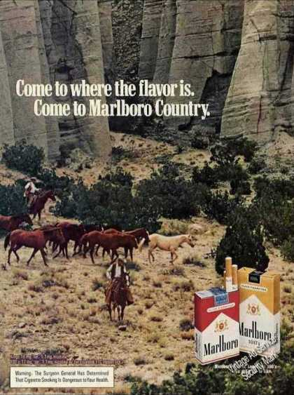 Marlboro Herd of Horses Cliff Cigarette (1975)