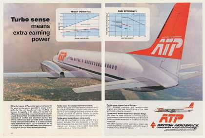 British Aerospace ATP Aircraft Turbo Sense 2-Pg (1984)