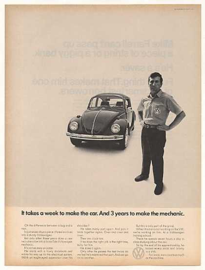 VW Volkswagen Beetle Bug 3 Years Make Mechanic (1968)