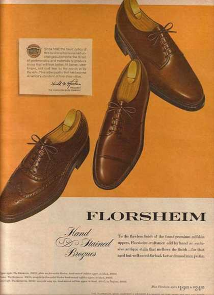Florsheim's Hand Stained Brogues (1963)