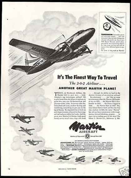 Martin Aircraft 2-O-R Northwest Airlines (1948)