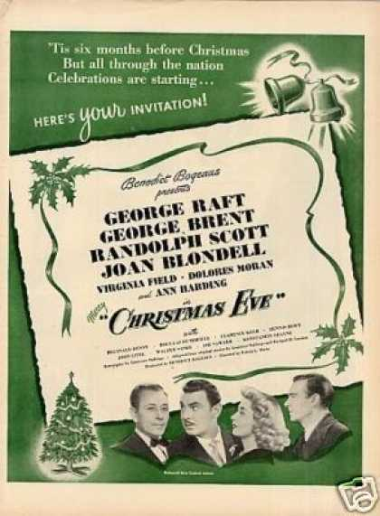Movie Ad &quot;Christmas Eve&quot; (1947)