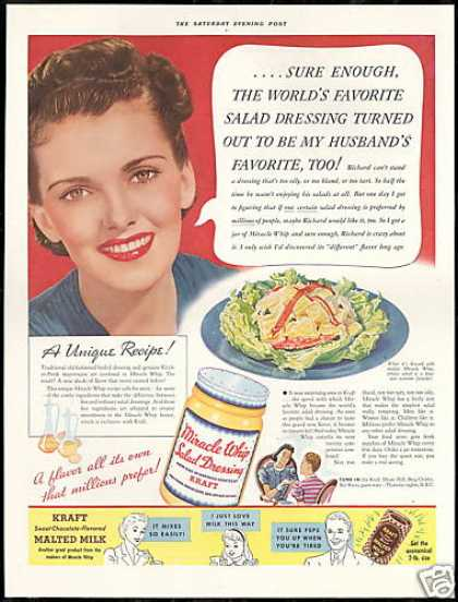 Kraft Miracle Whip Vintage Photo (1939)