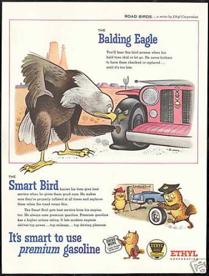 Balding Eagle Gurney Art Southwest Ethyl Gas (1956)