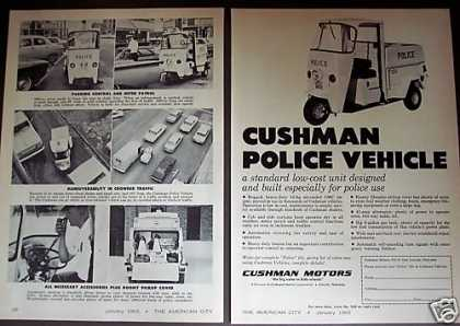 Cushman Motors Police Vehicle 2pg Trade (1965)