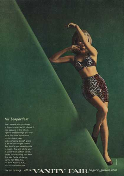 Vanity Fair Leopardess Bra Lingerie (1962)
