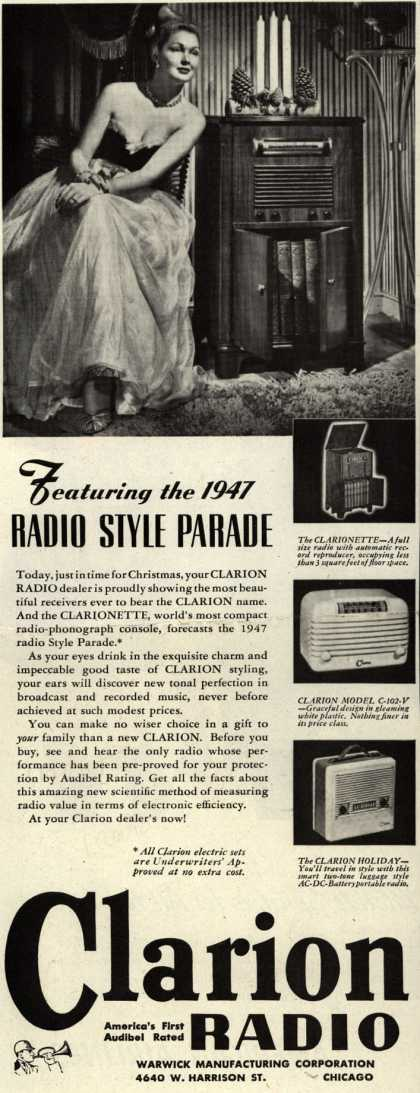 Clarion Radio's Radio – Featuring the 1947 Radio Style Parade (1946)