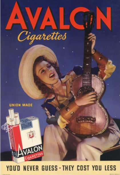 Avalon, Cigarettes Smoking, Guitars Instruments, USA (1940)