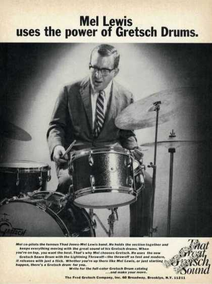 Mel Lewis Photo Gretsch Drums (1970)