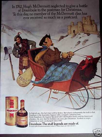 Mcdermott Clan Drambuie Liqueur Holiday (1989)
