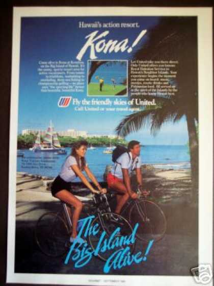 United Airline Kona Resort, Hawaii Photo (1985)
