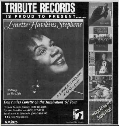 Lynette Hawkins Stephens Photo Gospel Music (1991)
