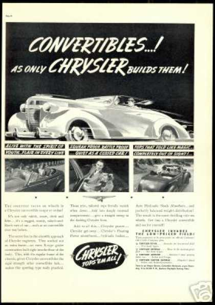 Chrysler Convertible Coupe Sedan Print Vintage (1937)