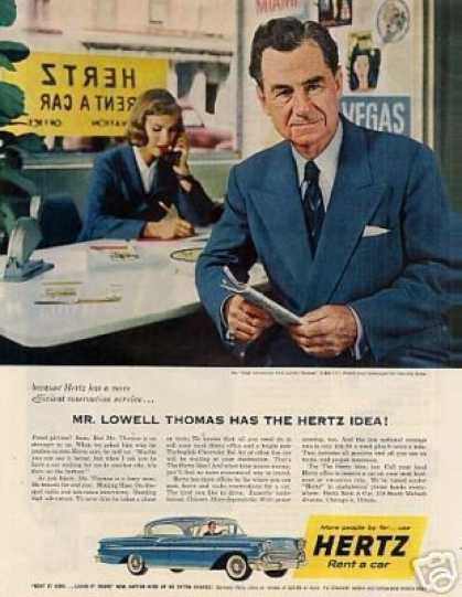 Hertz Rent-a-car Ad Lowell Thomas (1958)