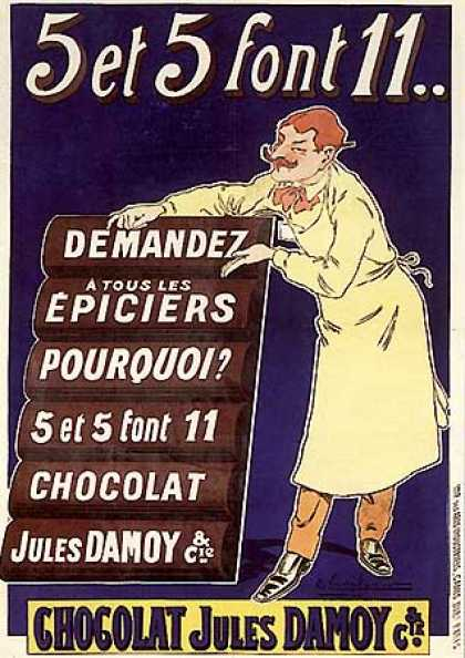 Chocolat Jules Damoy by E. Vavasseur (1910)