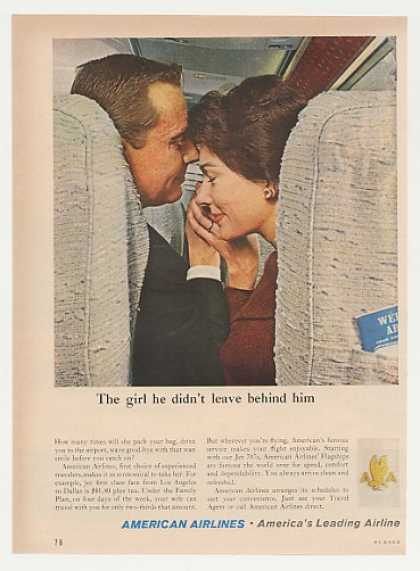American Airlines Man Didn't Leave Wife Behind (1960)