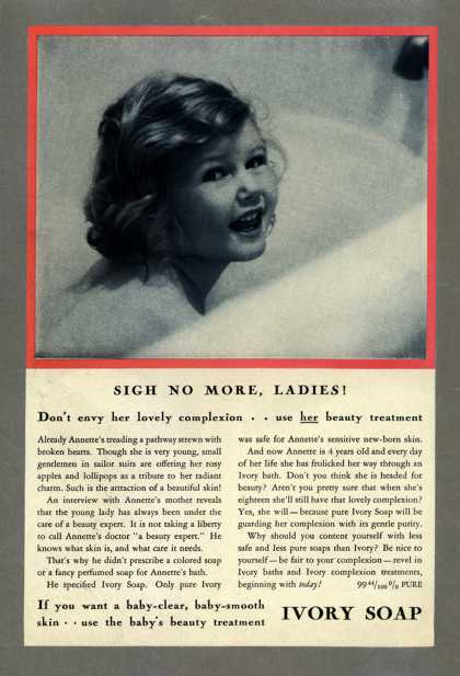 Procter & Gamble Co.'s Ivory Soap – Sigh No More, Ladies (1933)
