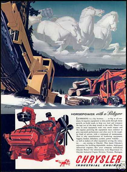 White Horses Logging Equipment Chrysler Engine (1954)