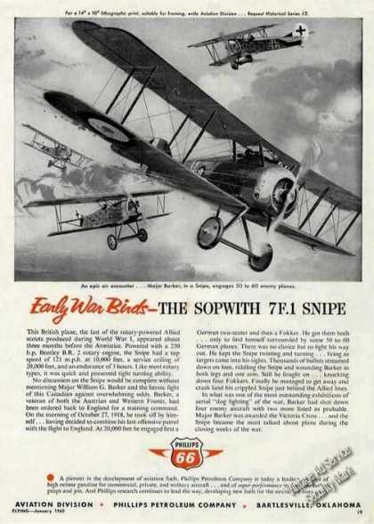 Early War Birds Sopwith 7f.1 Snipe Phillips 66 (1960)