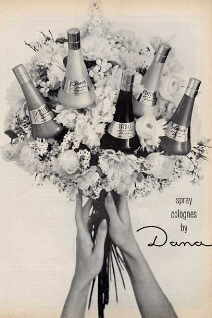 Dana Colognes Bouquet Bottles (1966)
