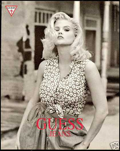 Anna Nicole Smith Photo Guess Jeans Vintage (1993)