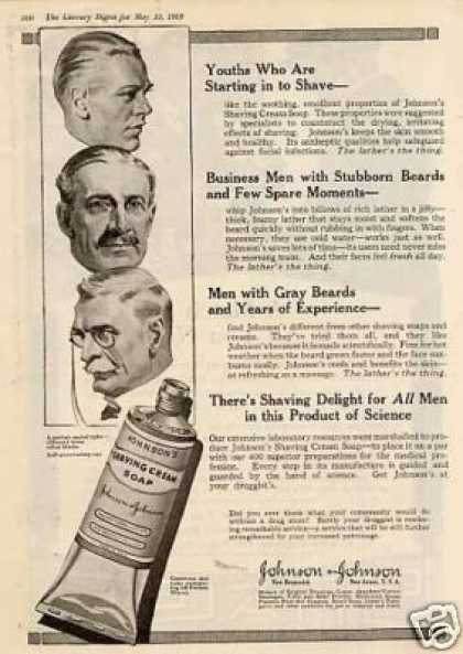 Johnson &amp; Johnson Shaving Cream Soap (1919)
