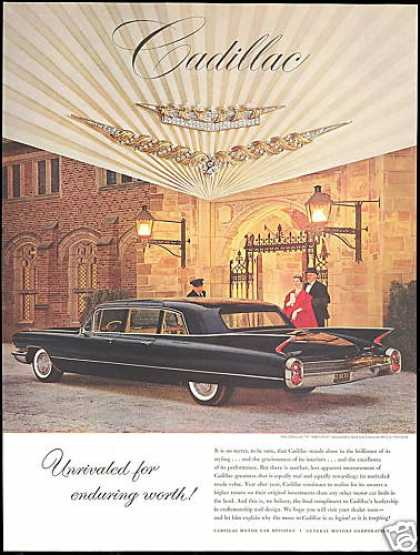 Black Cadillac Limousine Driver Photo (1960)