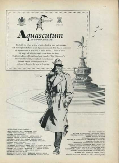 Aquascutum Coat Fashion Piccadilly Circus (1952)