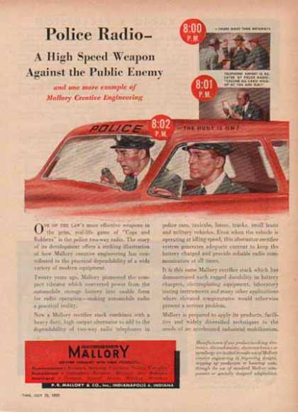 P.R. Mallory & Co – Police Radio (1951)
