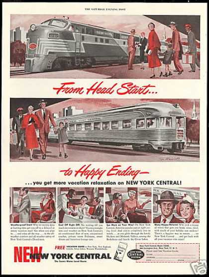 New York Central Train Railroad Vintage (1950)