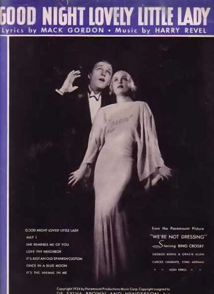 Good Night Lovely Little Lady – Bing Crosby Movie Sheet Music (1934)