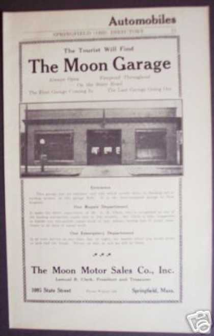 The Moon Garage Motor Sales Springfield Ma (1922)