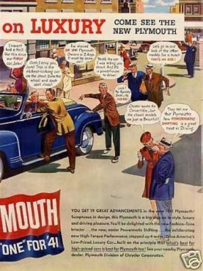 Plymouth Car Ad 2 Page (1941)