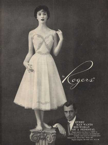 Rogers Gown Woman On Pedestal (1956)
