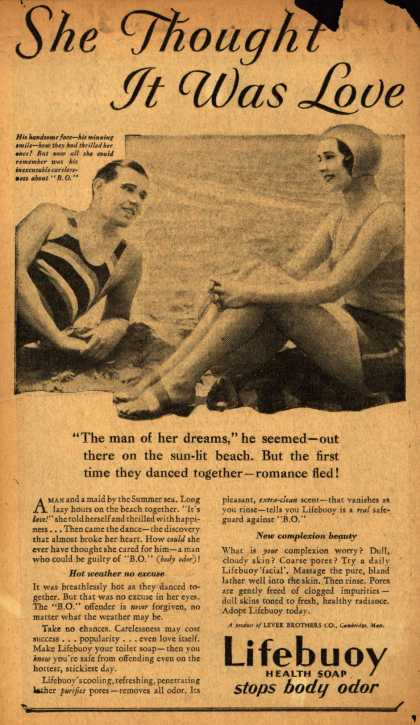 Lever Brothers Company's Lifebuoy Health Soap – She Thought It Was Love (1931)