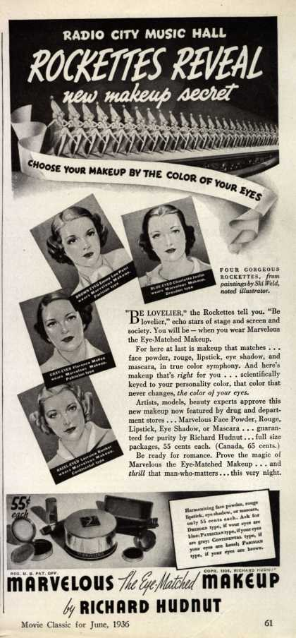 Richard Hudnut's Marvelous Makeup – Radio City Music Hall Rockettes Reveal new makeup secret (1936)