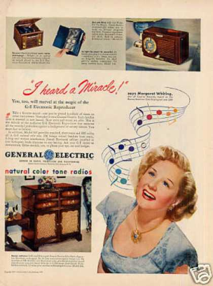 General Electric Radio Ad Margaret Whiting (1947)