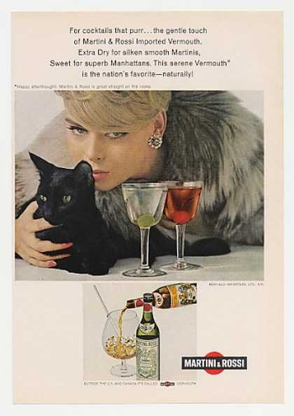 Martini & Rossi Vermouth Black Cat Photo (1968)
