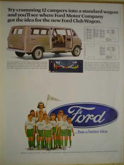 Ford camping van Cramming 21 campers (1968)