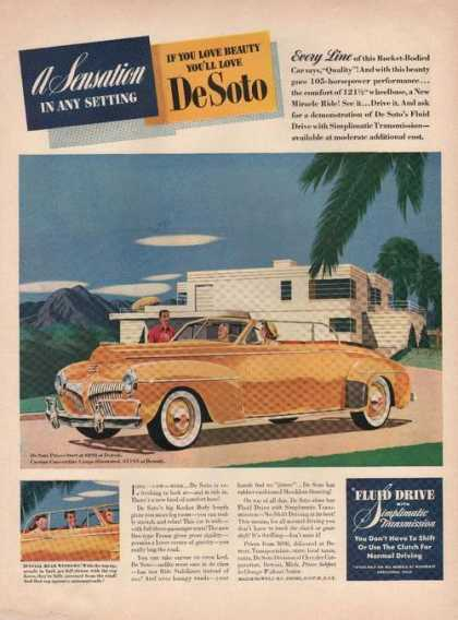 Sensation You'll Yellow Desoto Car (1941)
