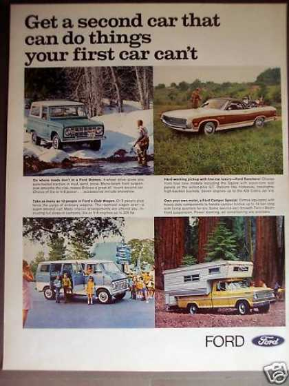 Ford Club Wagon, Ranchero, Bronco, Camper Cars (1970)