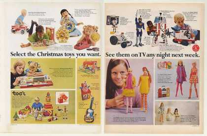 Mattel Christmas Toys Barbie Doll Hot Wheels 6P (1968)