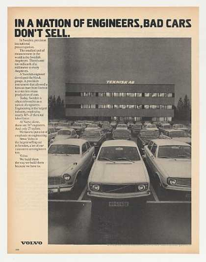 Volvo Nation of Engineers Bad Cars Don't Sell (1972)