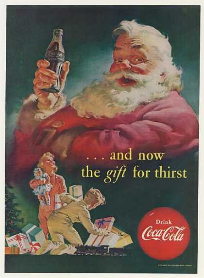 '52 Coke Coca-Cola Gift Thirst Santa Claus (1952)