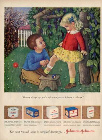 Johnson &amp; Johnson Children Playing Doctor Ad T (1949)