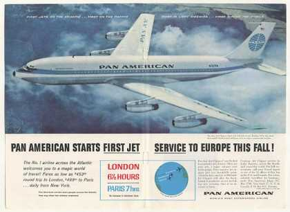 Pan Am Airlines Boeing 707 Jet Clipper Photo (1958)
