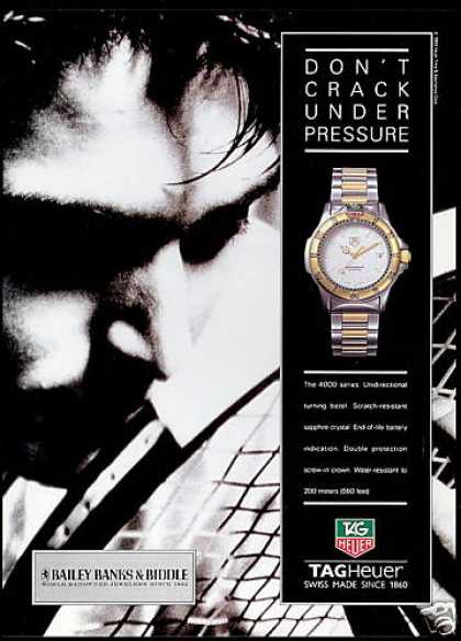 Tagheuer Watch 4000 Series Tag Heuer Tennis (1993)