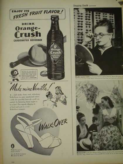 Orange Crush Soda AND Walk Over shoes (1945)